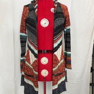 Woman's tribal print sweater